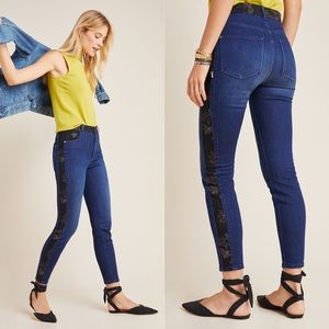 Pilcro Ultra High-Rise Floral Contrast Skinny Jean